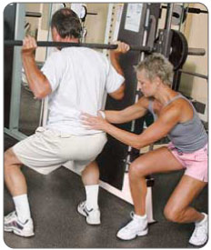 Meniscus surgery recovery plan assisted squats